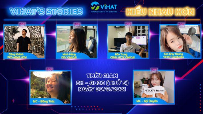 Chương trình Talk Show ViHAT's Stories ngày 30.9